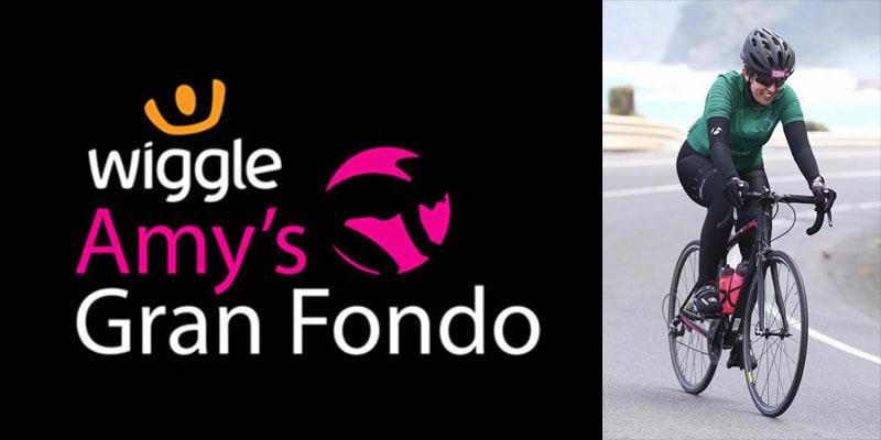Amys Gran Fondo logo and CYC rider