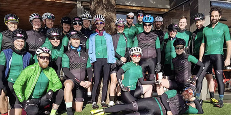 CYC riders group photo at Amys Gran Fondo