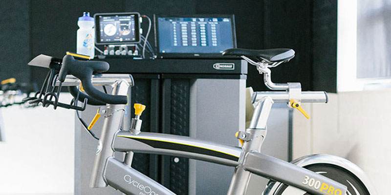 Top of indoor bike and computers