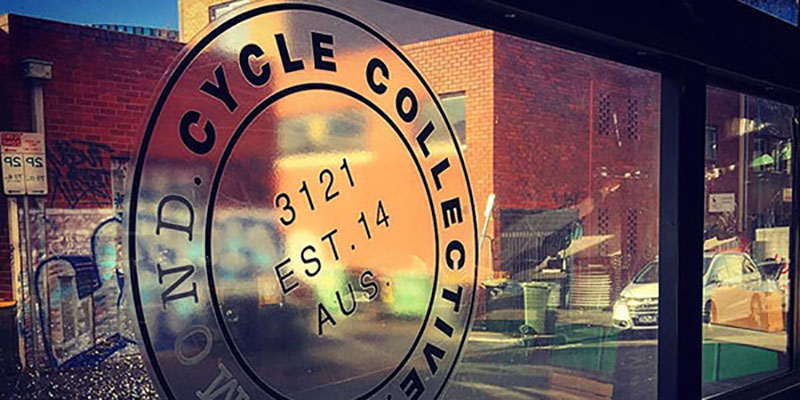 Cycle Collective sign with reflections